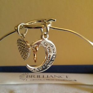 Jewelry - Bangle bracelet love you to the moon and back